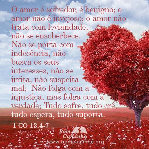 O amor é sofredor, é benigno; o amor não é invejoso; o amor não trata com leviandade, não se ensoberbece. 1 Coríntios 13:4